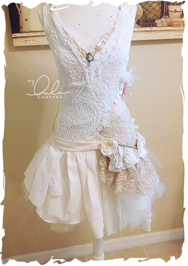 Shabby Tattered Tutu-Style Dress
